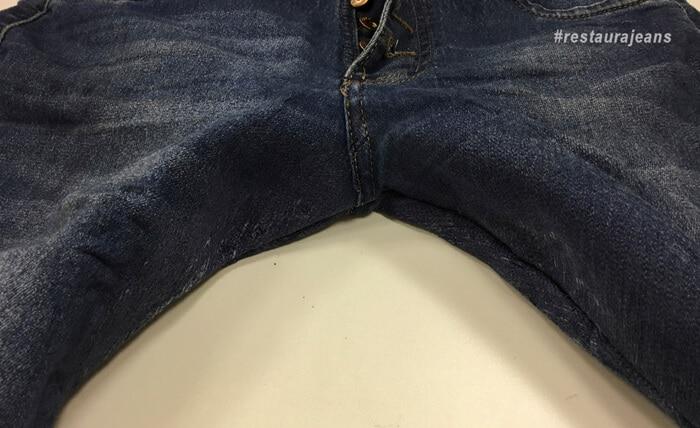 Arrumar calça jeans rasgada