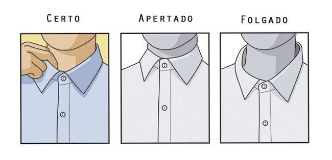 colarinho camisa masculina