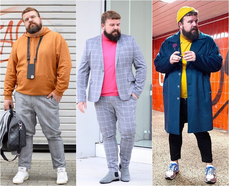 moda para homens gordos
