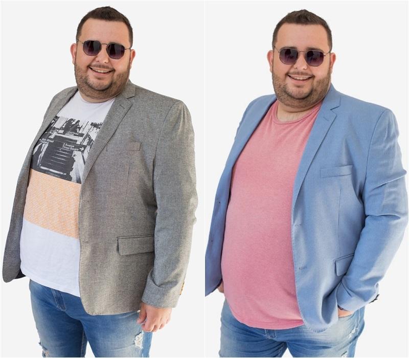 blazer azul e blazer cinza plus size slim masculino