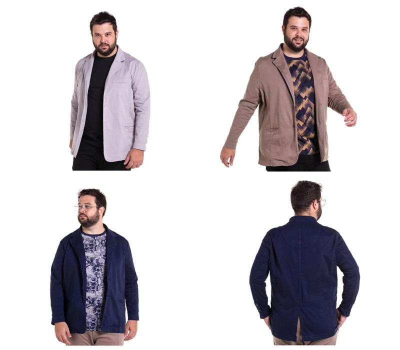 blazer masculino plus size