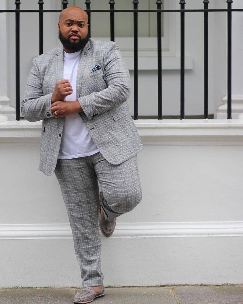 Homens gordos estilosos