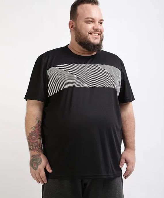 camisa masculina plussize esporte