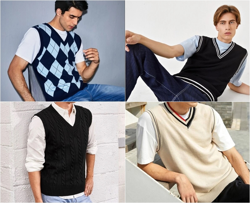comprar colete trico masculino