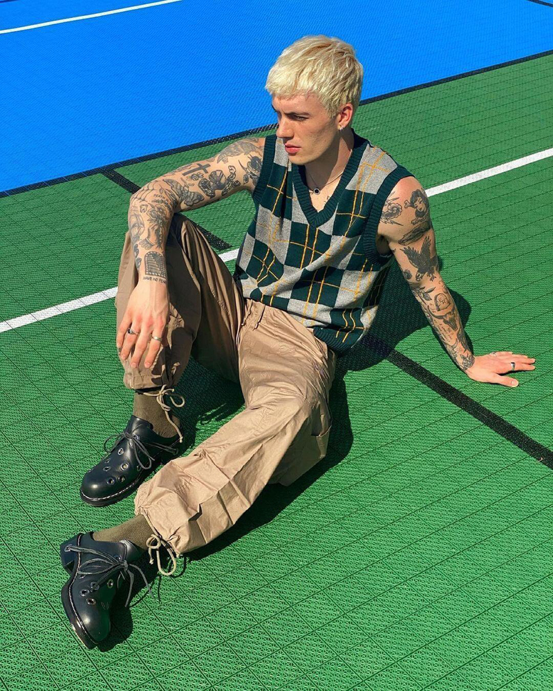 colete de trico masculino