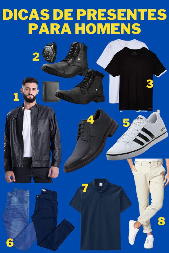roupas masculinas para presente
